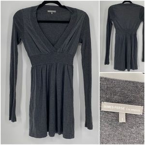 James Perse Los Angeles Long Sleeve V Neck Tunic 1